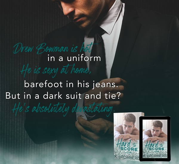 Drew Bowman is hot in a uniform. He is sexy at home, barefoot in his jeans. But in a dark suit and tie? He's absolutely devastating.