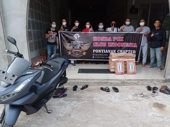 Komunitas Honda PCX Club Pontianak Salurkan Bantuan Untuk Pembangunan Masjid As-Salam