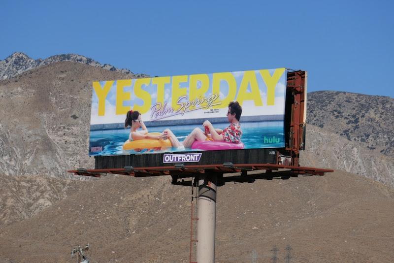 Yesterday Palm Springs FYC billboard