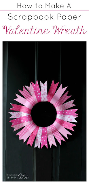 How To Make A Scrapbook Paper Valentine Wreath