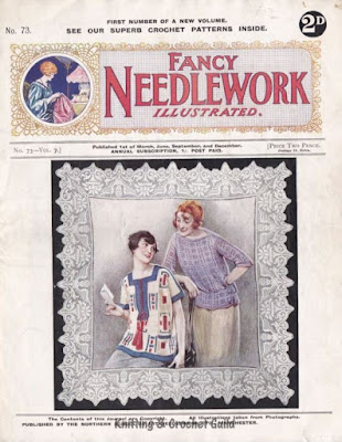 Vintage knitting & crochet magazine, 1920s