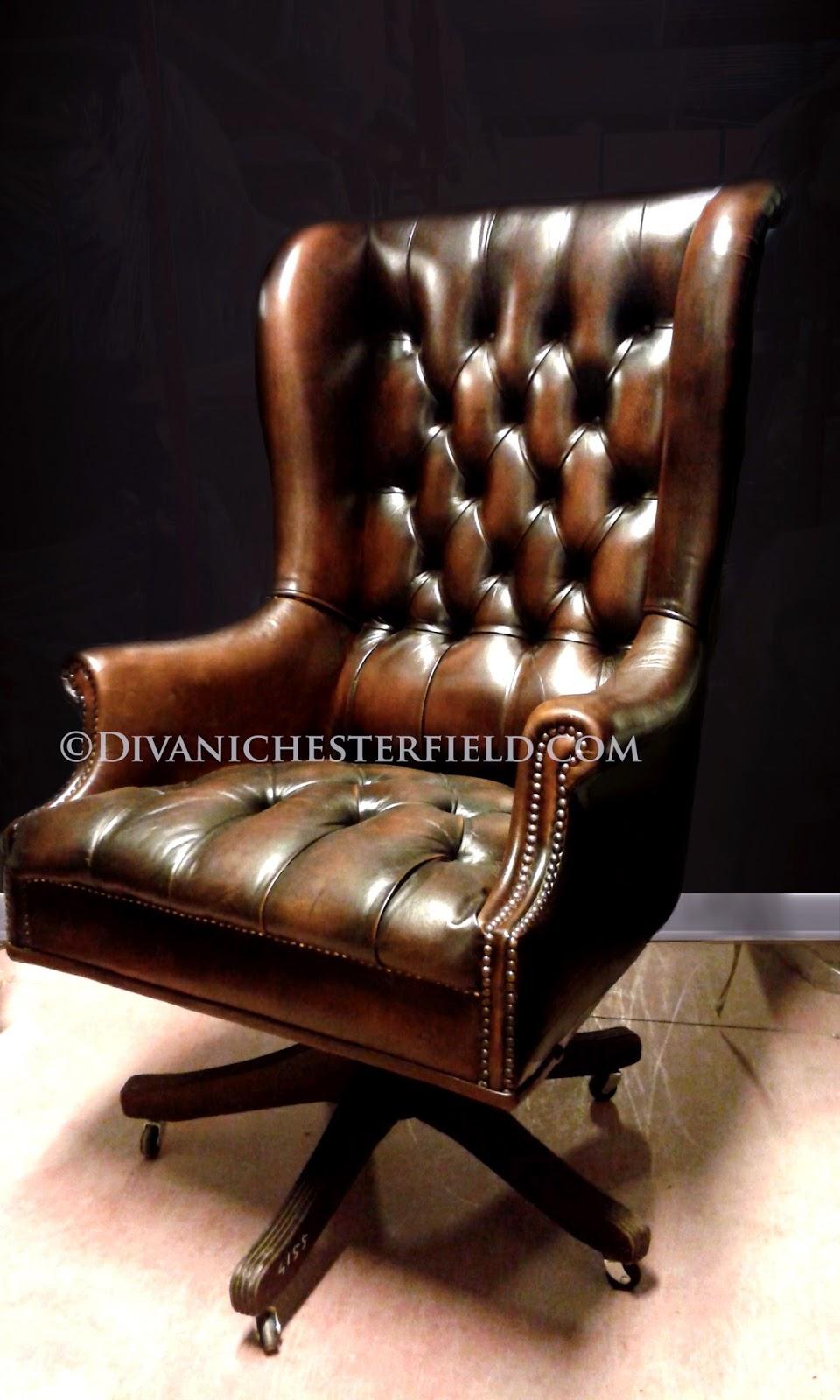 Poltrone e sedie chesterfield da ufficio in pelle nuove e for Poltrone sedie