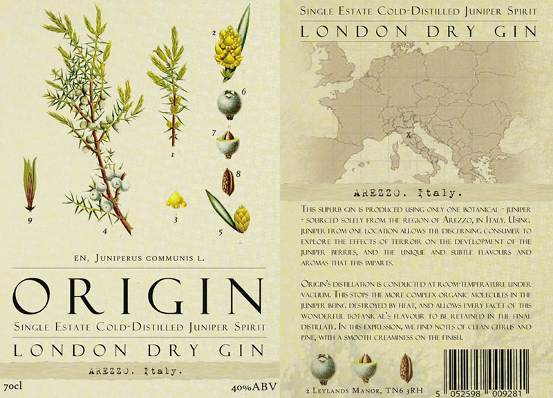 Origin London dry Gin