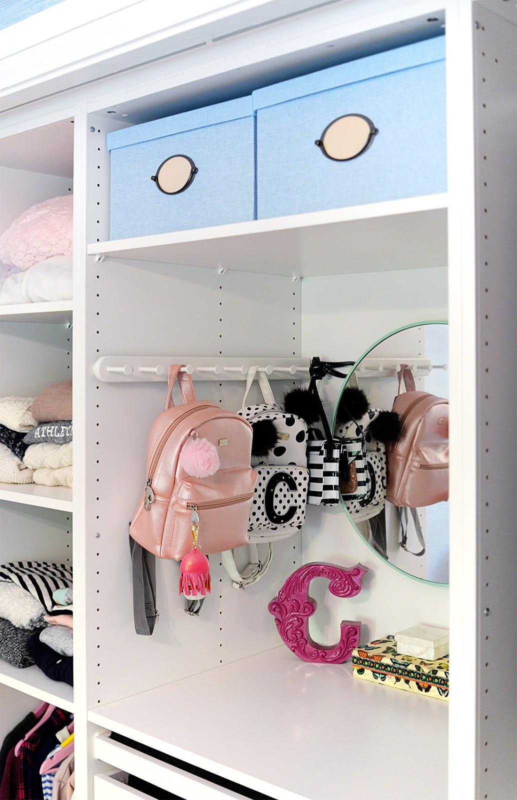 ikea closet organization ideas, kid friendly closet organization, girls closet ideas, tween closet, IKEA Pax closet