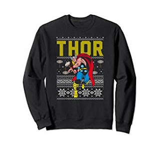 Click here to purchase Retro Thor Snowflake Sweater at Amazon!
