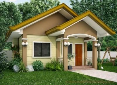 bentuk rumah sederhana tampak depan