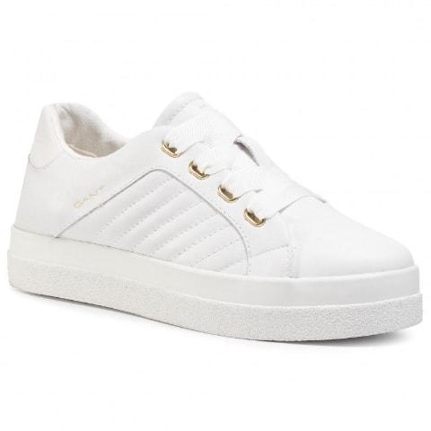 Sneakers GANT de dama albi frumosi din piele naturala