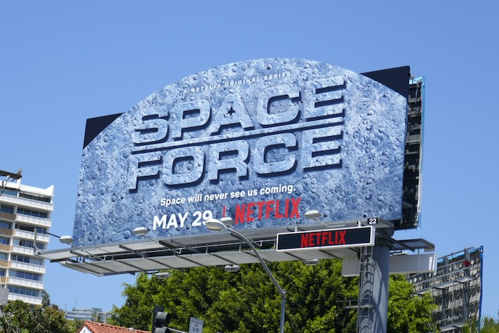 Space Force Moon cutout billboard