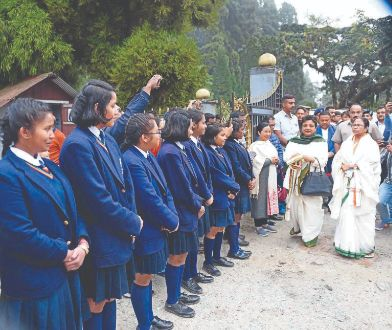 CM Mamata interacts with students at Kurseong