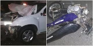 Um irmão morre e outro fica gravemente ferido em acidente de moto na Paraíba
