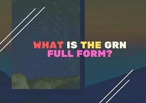 Full Form of GRN