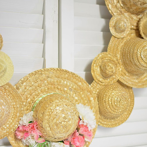 Hats Off To Summer Straw Hat Wreath
