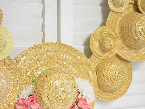 Hats Off To Summer Straw Hat Wreath
