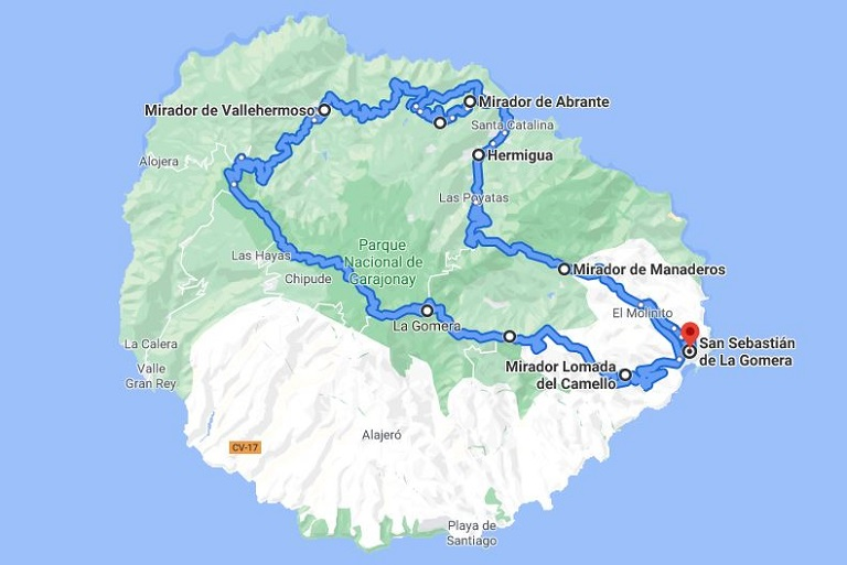ruta-la-gomera-itinerario-1-dia