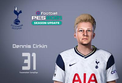PES 2021 Faces Dennis Cirkin by CongNgo