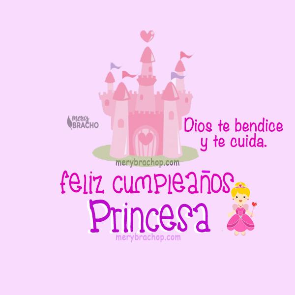 imagen linda de cumpleaños princesa frases bonitas