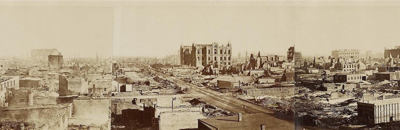 Chicago nach dem Stadtbrand von 1871