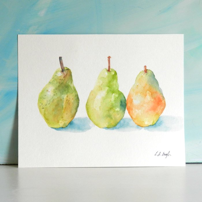 watercolor trio still life by Elise Engh: growcreative