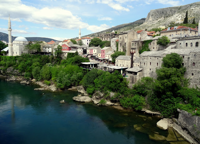 Mostar Old Town on the Neretva River
