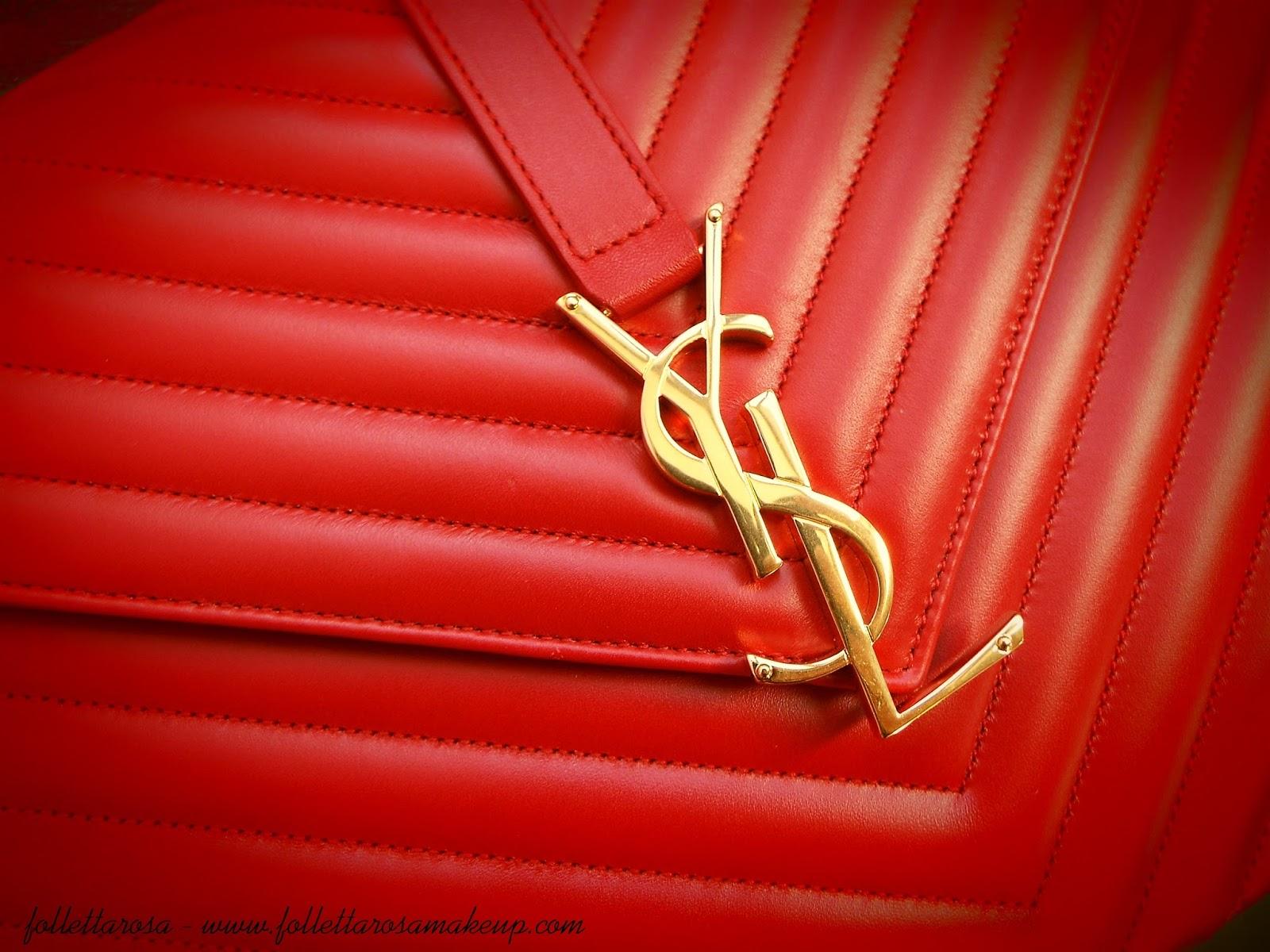 monogram ysl matelasse rossa