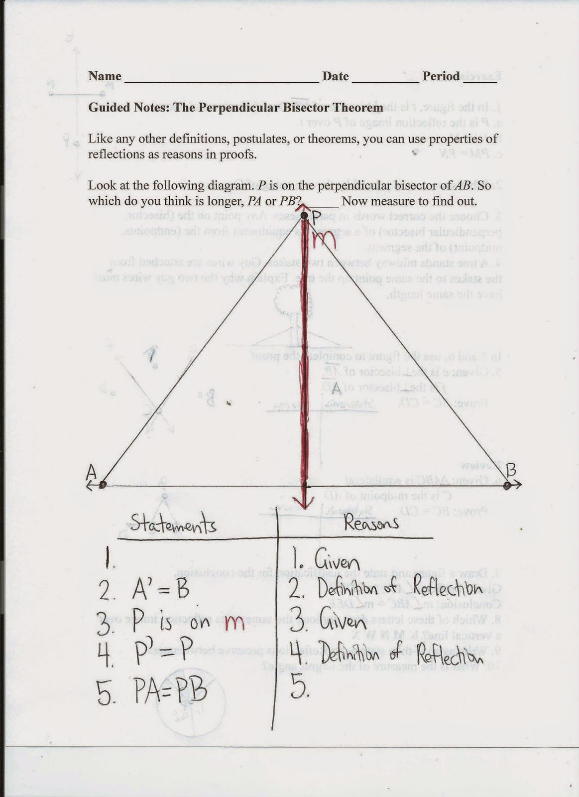 worksheet Perpendicular And Angle Bisectors Worksheet geometry common core style lesson 4 5 the perpendicular bisector theorem day 45
