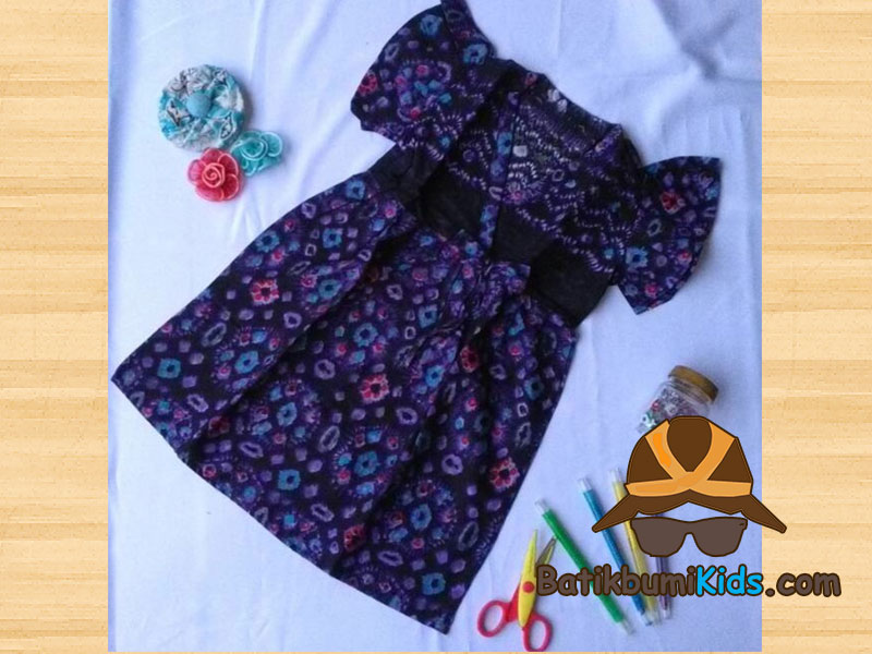 Dress Batik Anak Afiqah Sasirangan series