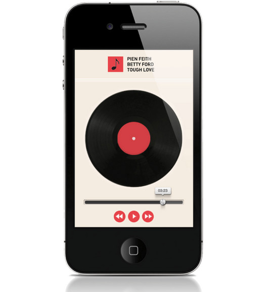retro old Music App for iphone