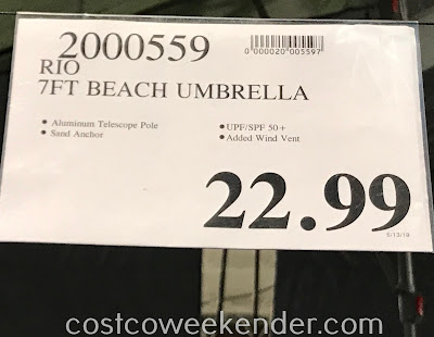 Deal for the Rio Beach 7ft Sunblocking Umbrella at Costco