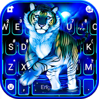 Neon Blue Tiger King Keyboard Theme Apk Download for Android