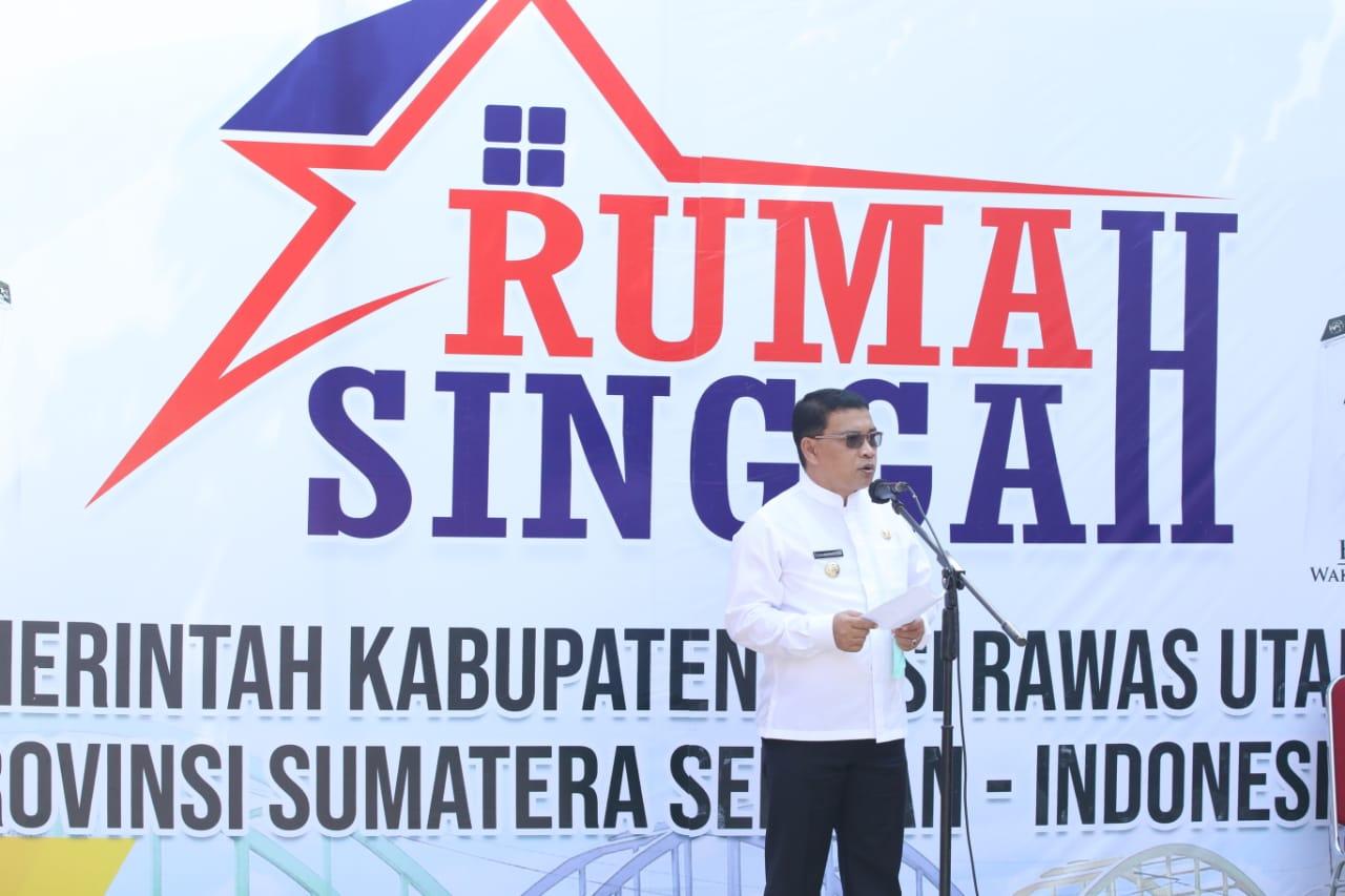 Bupati Muratara H. Devi Suhartoni (HDS) saat peresmian Rumah singgah di Palembang. (Poto/Ist)