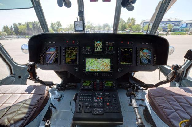 Mil Mi-8AMT cockpit