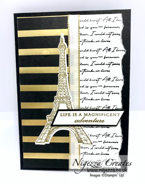 Nigezza Creates with Stampin' Up! Parisian Beauty & Golden Honey Card