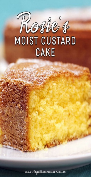 Rosie's Moist Custard Cake Recipe