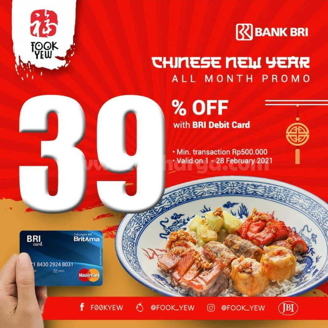 FOOK YEW Promo Chinese New Year! Discount 39% with BRI Debit Card