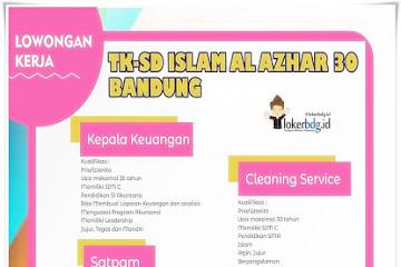 Lowongan Kerja di TK-SD Islam Al Azhar 30 Bandung