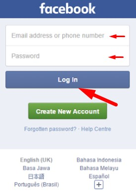 old version facebook login