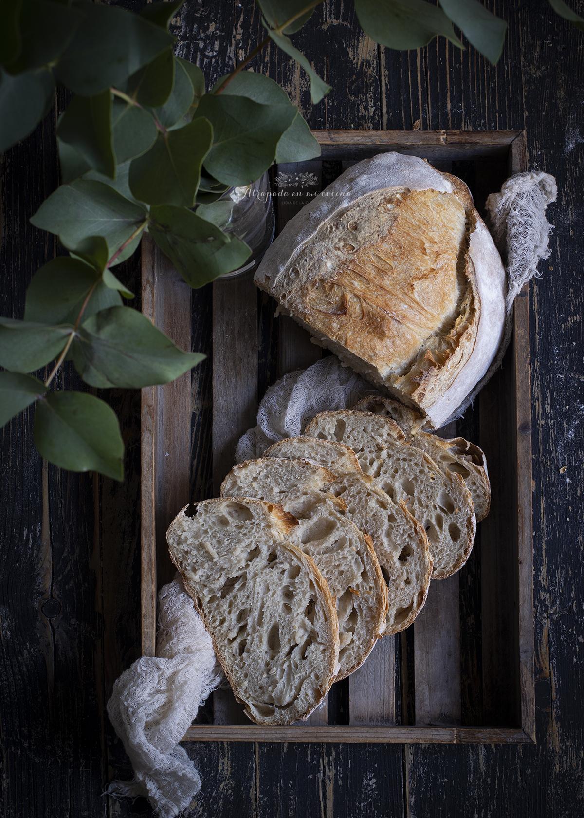 Pan Con Masa Madre Sin Levadura Atrapada En Mi Cocina