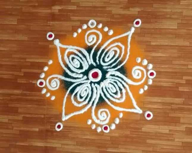small easy rangoli design