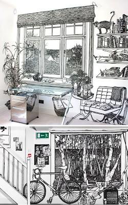 Bocetos en casa habitación.