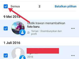 cara hapus postingan facebook