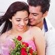 A couple celebrating love on Valentine's Day