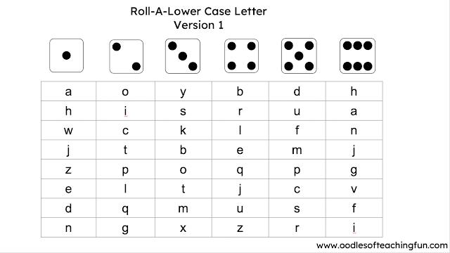 Letter identification practice, lower case letter, preschool practice, kindergarten practice