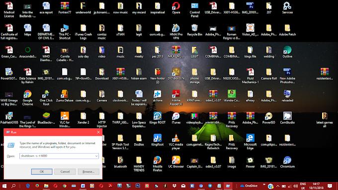 Shutdown timer for windows.
