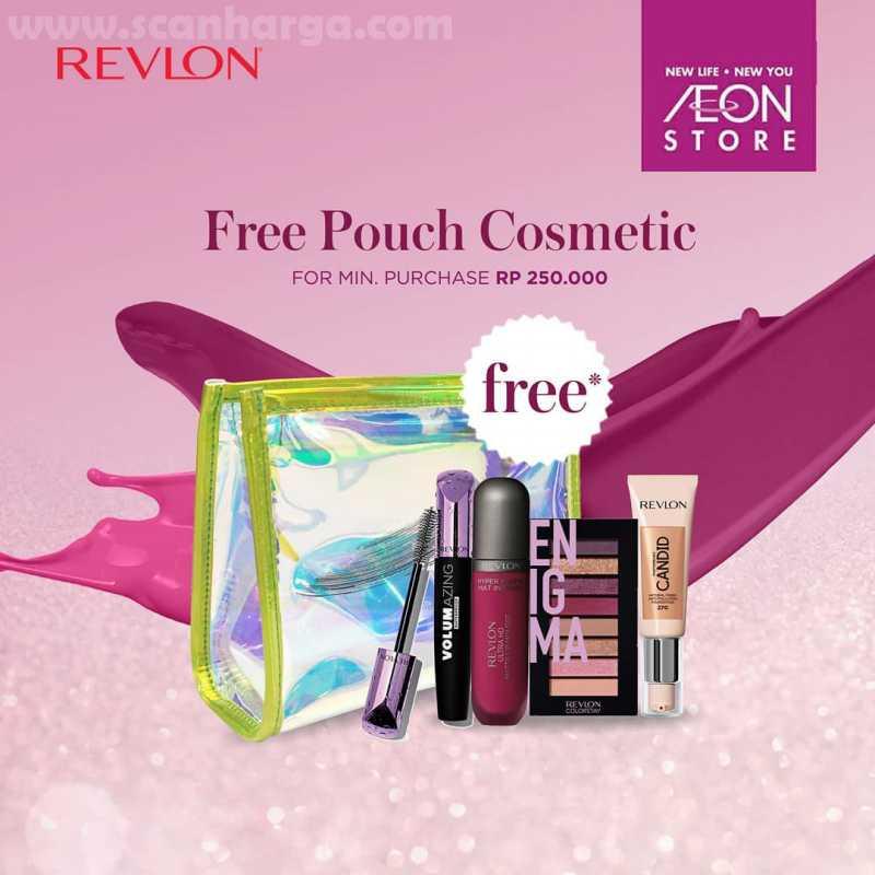 AEON Store BSD City Promo Revlon GRATIS Beauty Pouch untuk setiap pembelian min. Rp250.000!