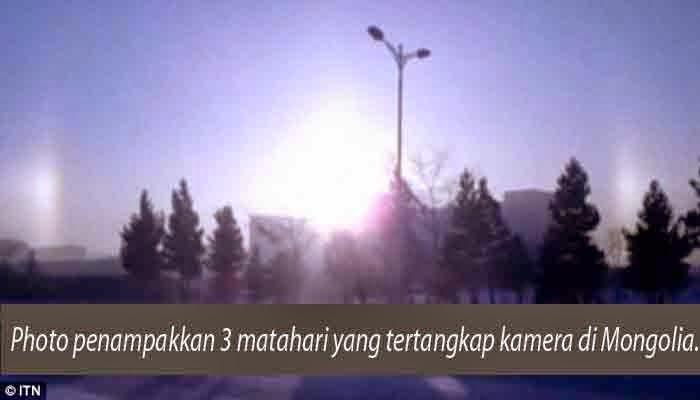 Fenomena, Penampakan, Tiga, Matahari, Di, Mongolia