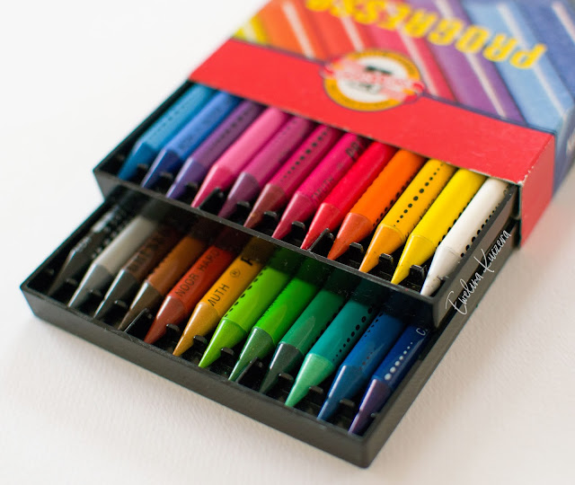 Koh-I-Noor Progresso - review - a set of 24 woodless colored pencils