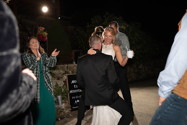 bride and Groom dancing and having fun at Reception Magnolia Farm Asheville Wedding Photography captured by Houghton Photography