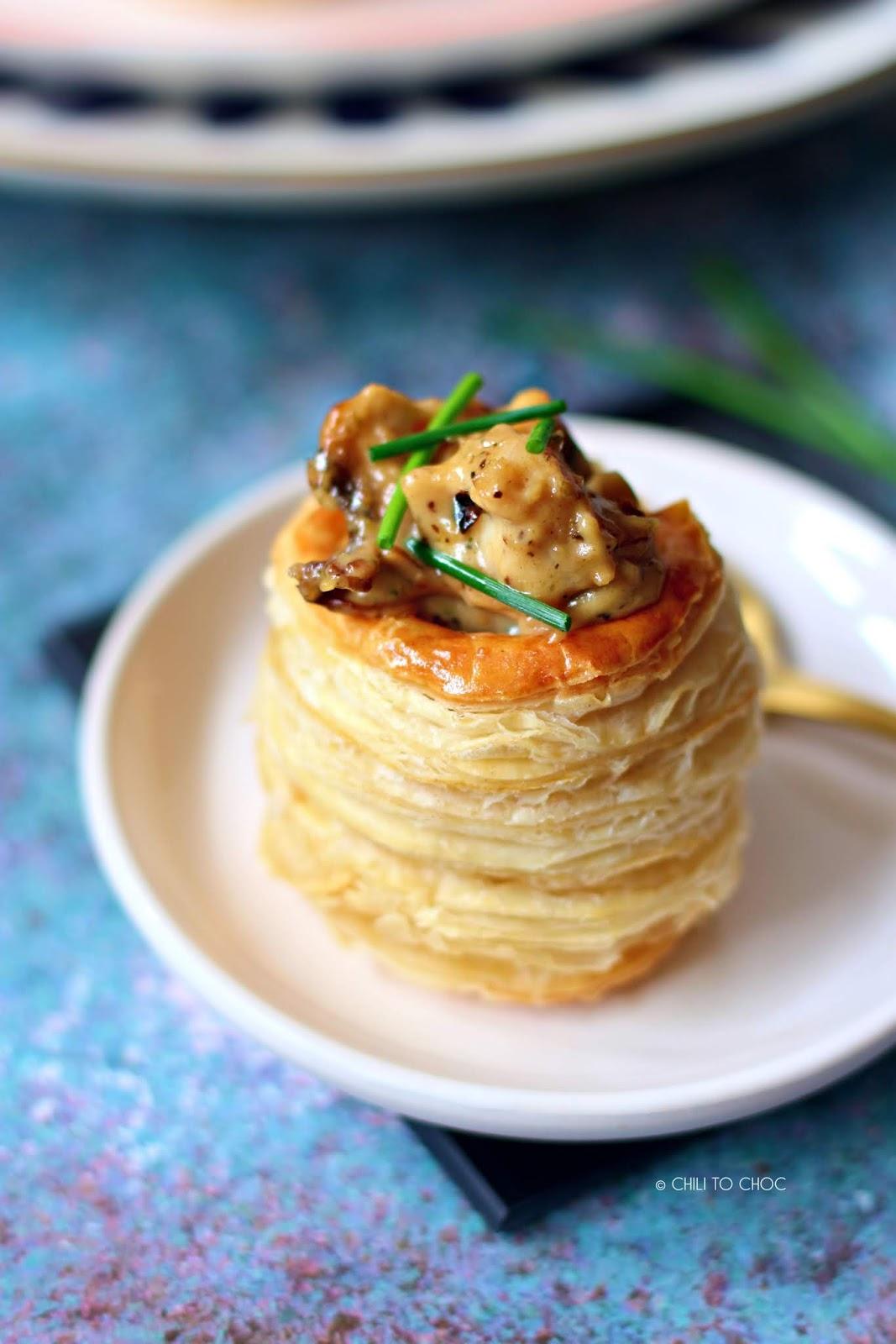 Chicken & Mushroom Vol Au Vent