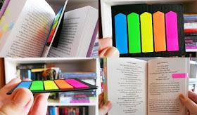 livros, post it, ler, cuidados com o livro