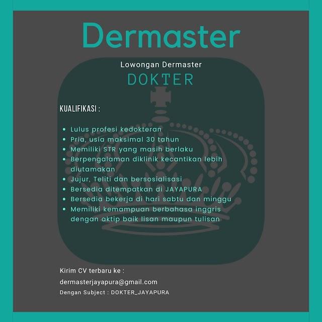 Loker Dokter DERMSTER Jayapura
